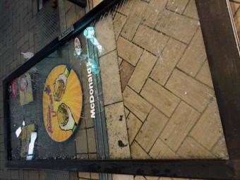 【施工前】静岡県磐田市にて破損したガラスドアの交換