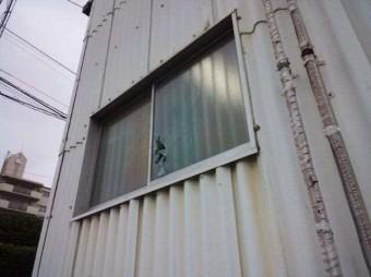 【施工前】静岡県浜松市浜北区の工場で泥棒によるこじ破り被害