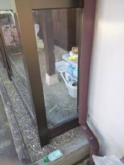 【施工前】浜松市中区の戸建て住宅にてヒビ割れ発生でガラス交換