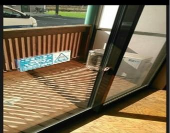 【施工後】静岡県浜松市北区の戸建にてこじ破りによるガラス交換