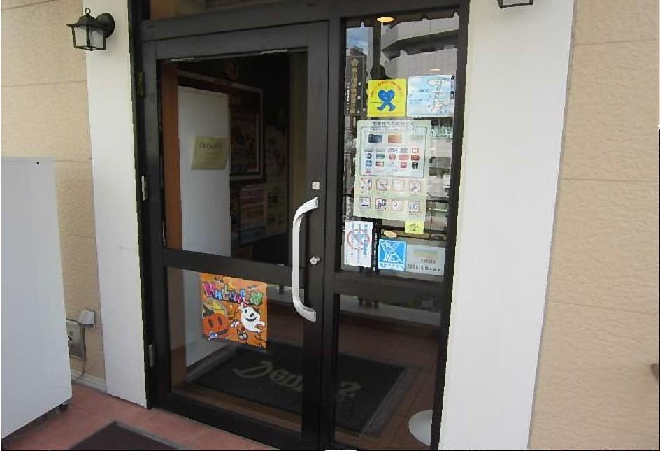 【施工前】静岡県浜松市天竜区の店舗にて不注意によるガラス割れ